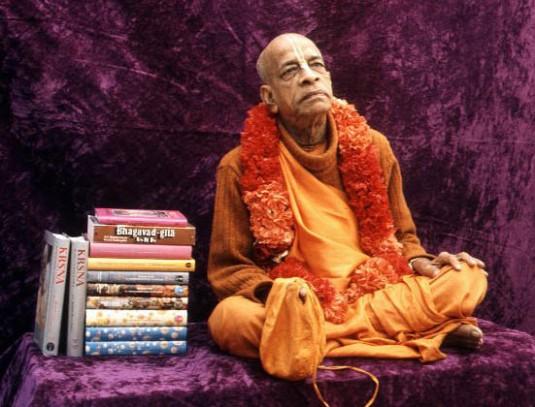Srila Prabhupada with Books