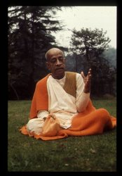 Srila Prabhupada at the Bhaktivedanta Manor