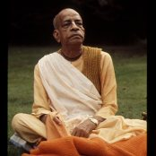Srila Prabhupada at the Manor