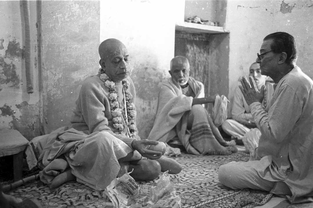 Srila Prabhupada at Radha Damodara
