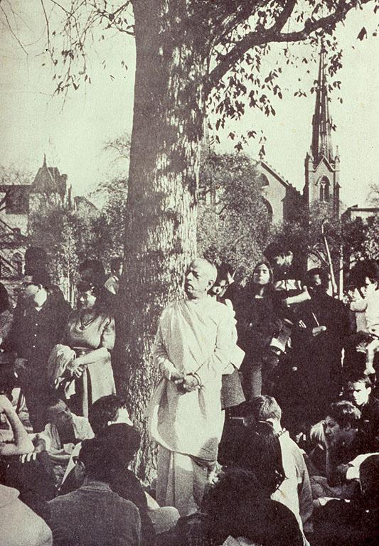 Srila Prabhupada at Tomkins Park