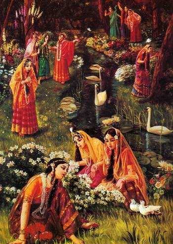 gopis searching for Krsna