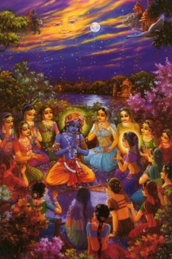 Krsna and the gopis