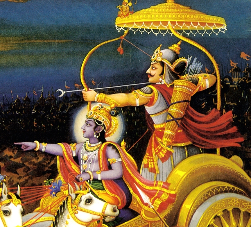Krsna and Arjuna
