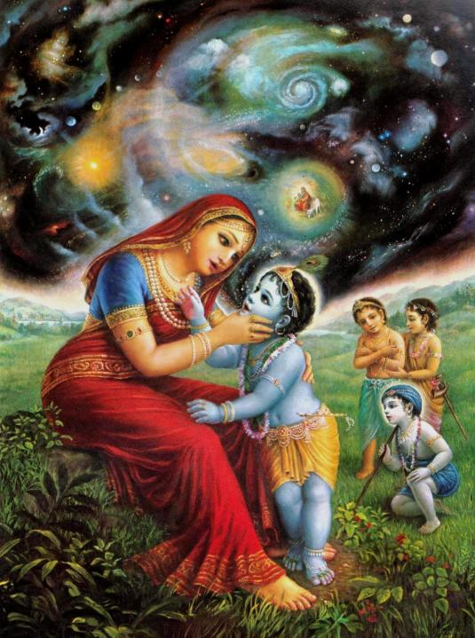Krishna eating dirt