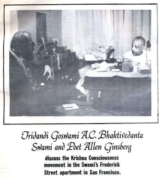 A.C. Bhaktivedanta Swami and Allen Ginsberg