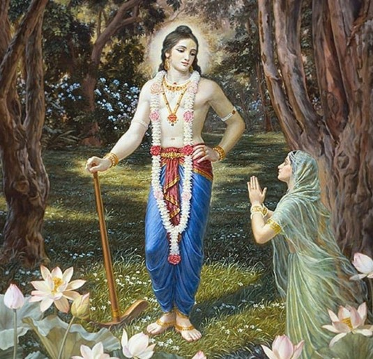 Balarama Yamuna praying for His Mercy