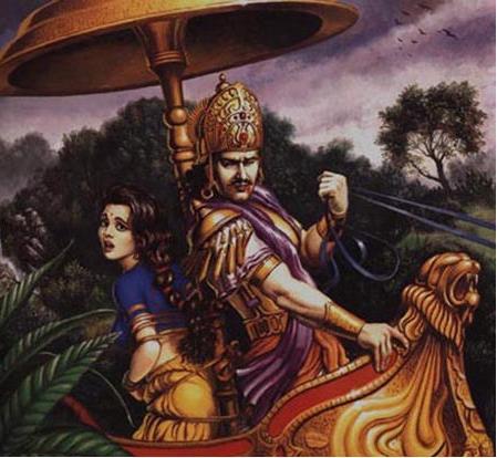 Jayadratha captures Draupadi