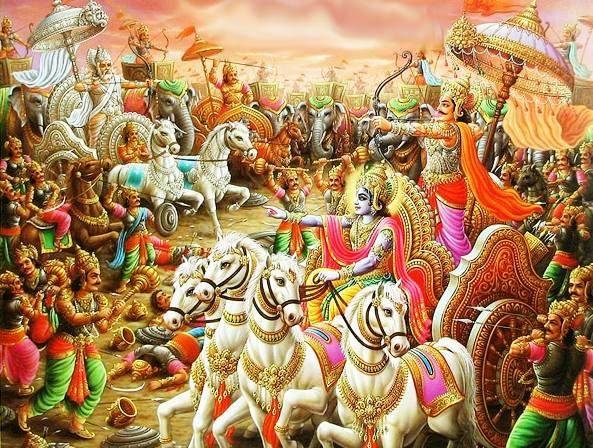Krishna on battlefield