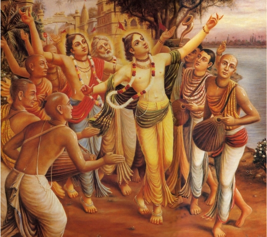 Lord Caitanya chanting