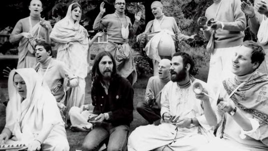 george harrison with devotees